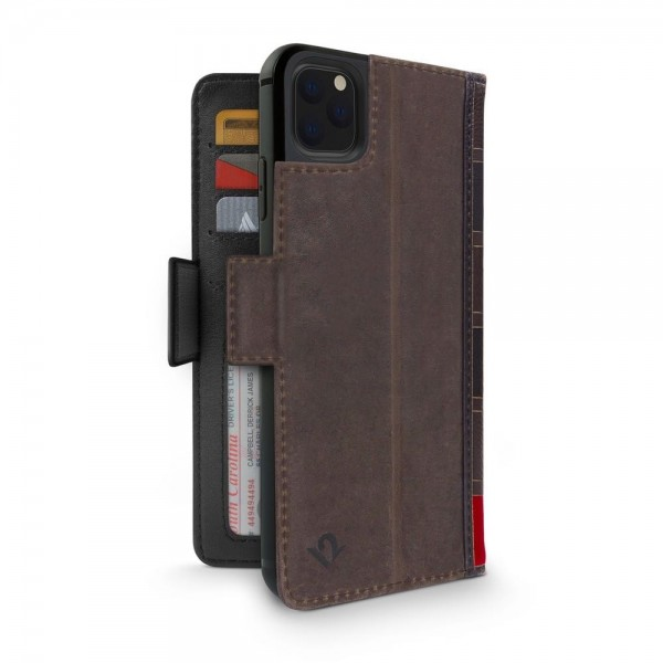 Twelve South BookBook for iPhone 12 and 12 Pro (MagSafe compatible) - Brown, TW-2103