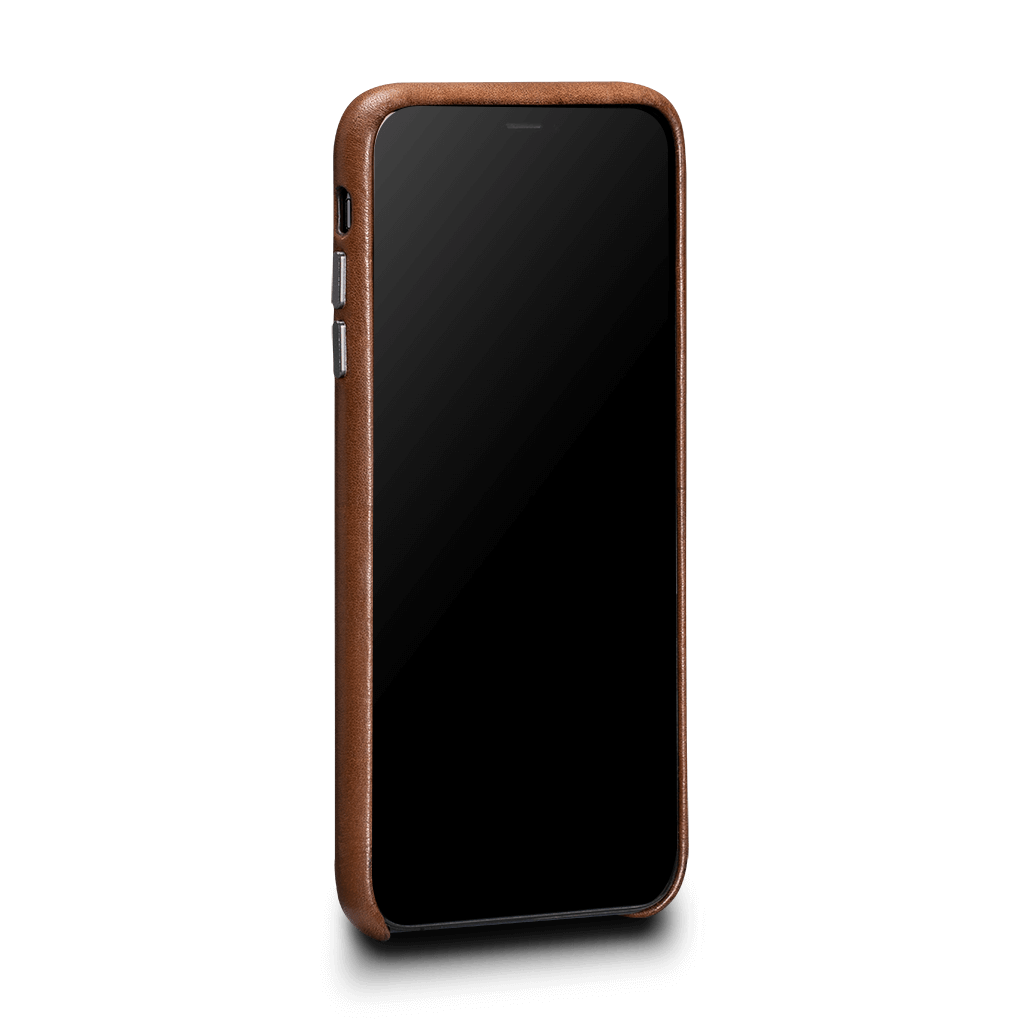 Sena Deen Snap-on Leather Wallet case for iPhone XS Max - Brown, SFD37806NPUS