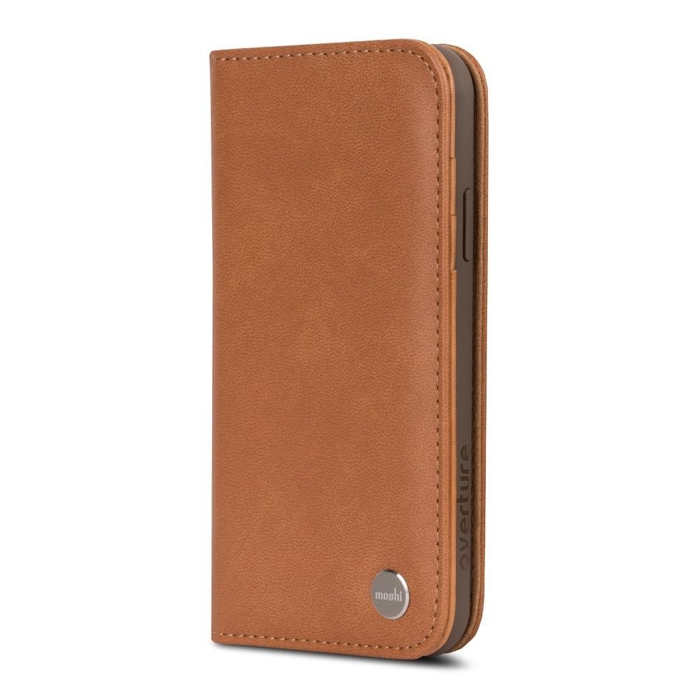 Moshi Overture Wallet Case for iPhone X/Xs - Caramel Brown, 99MO101751