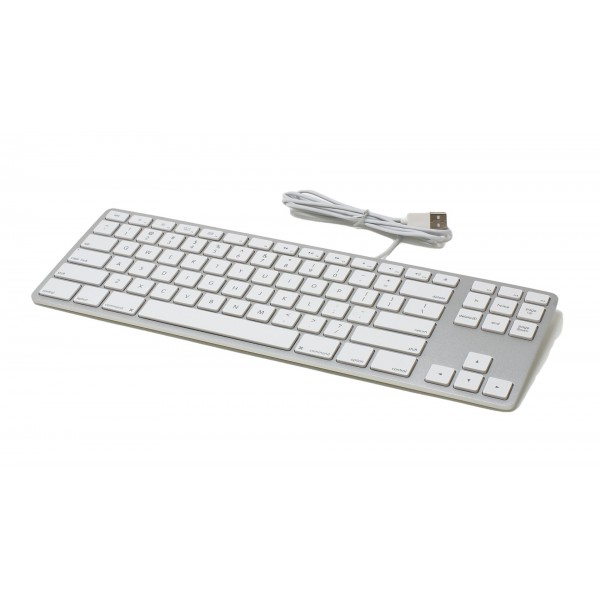 Matias Wired Aluminum Tenkeyless Keyboard for Mac - Silver, FK308S