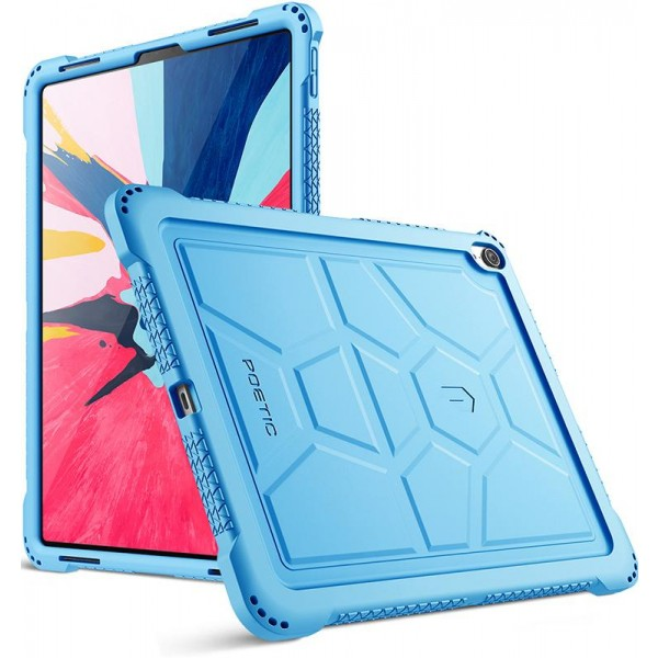 Poetic TurtleSkin Series Protective Silicone Case for Apple iPad Pro 12.9 Inch (2018) [Not Supported Apple Pencil Magnetic Attachment]  - Blue, TurtleSkin-iPad-Pro-12.9-2018-Blue