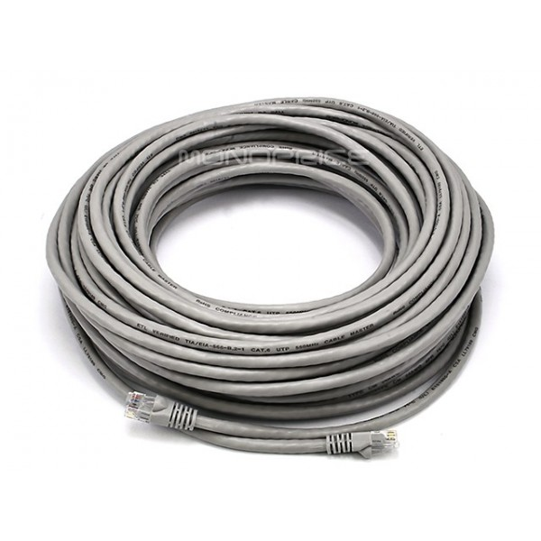 23m 24AWG Cat6 550MHz UTP Ethernet Bare Copper Network Cable - Gray, ETH-2516