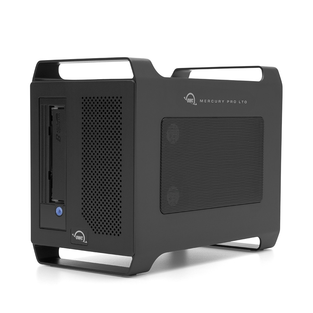 OWC Mercury Pro LTO Thunderbolt LTO-8 Tape Storage/Archiving Solution with 2.0TB SSD Staging Drive, OWCTB3LT8S02B