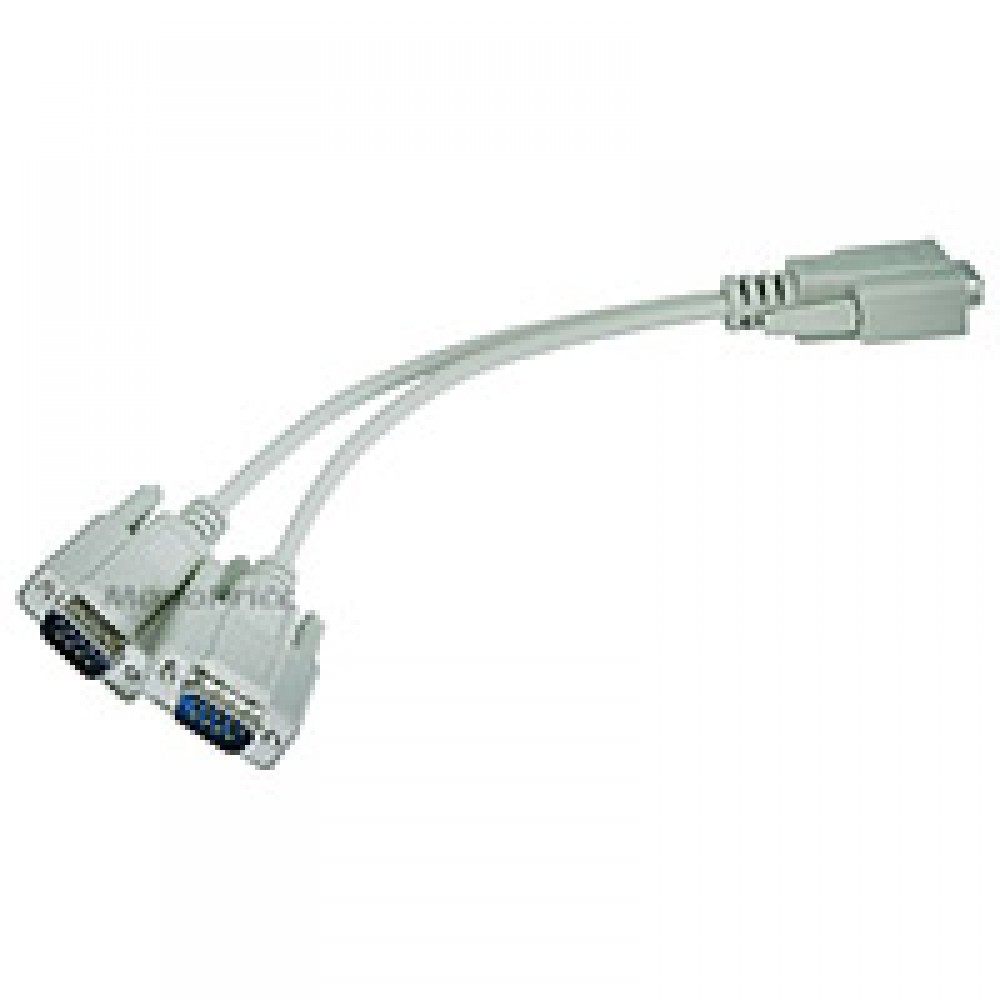 RS232 Serial Mouse or Monitor Splitter cable - (1)DB9 female to (2) DB9 male, DIS-DB9-4640