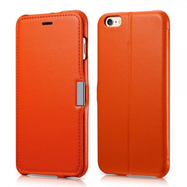 Benuo Leather Wallet Case Luxury Series for iPhone 6 Plus - Orange, DIS-BENUO-IPH6+OR