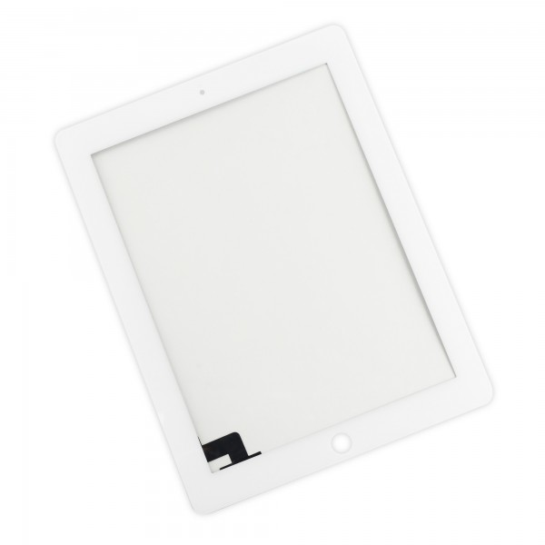 iPad 2 Front Glass/Digitizer Touch Panel Without Adhesive Strips - White, IF112-000-2