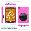 Breacn iPad Mini 5 Case,iPad Mini 4 Case, Heavy Duty Shockproof Protective Rugged Case with Pencil Holder, Hand Strap, Kickstand, Shoulder Strap for iPad Mini 5th/4th Generation 7.9 Inch for Kids - Rose, B07TC5F7SN